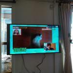 テレビ壁掛設置
