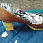 春靴塗装 準備