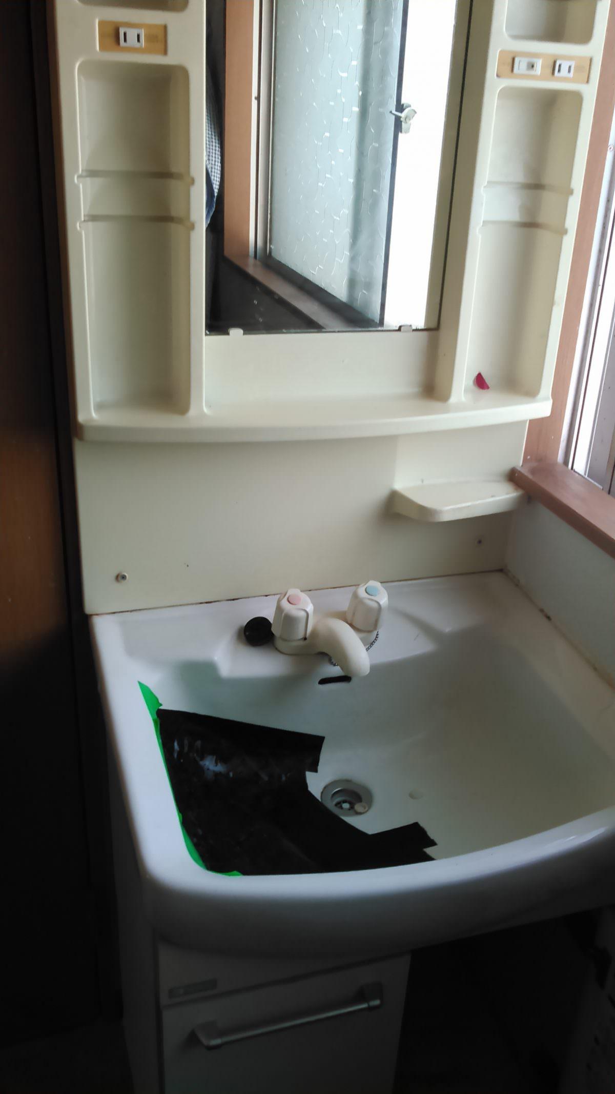 洗面化粧台交換 ~toto keシリーズ 600幅 1面鏡エコミラー~ | トイレや