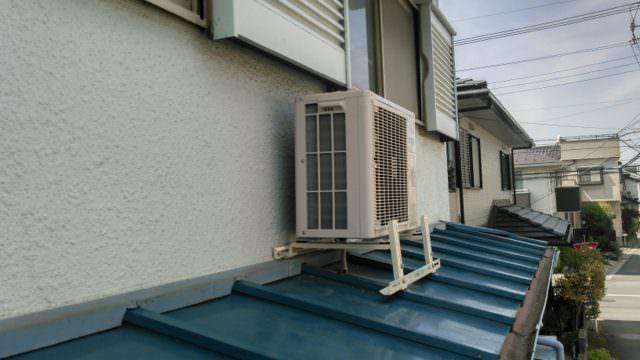 エアコン室外機庇(ひさし)新規設置