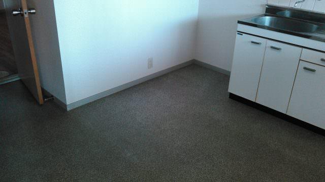 台所床(クッションフロア)の張替