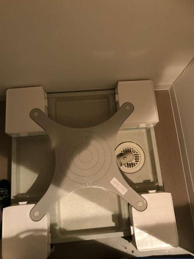 洗濯機かさ上げ「マルチメゾン」設置でマンション高圧洗浄対策へ!