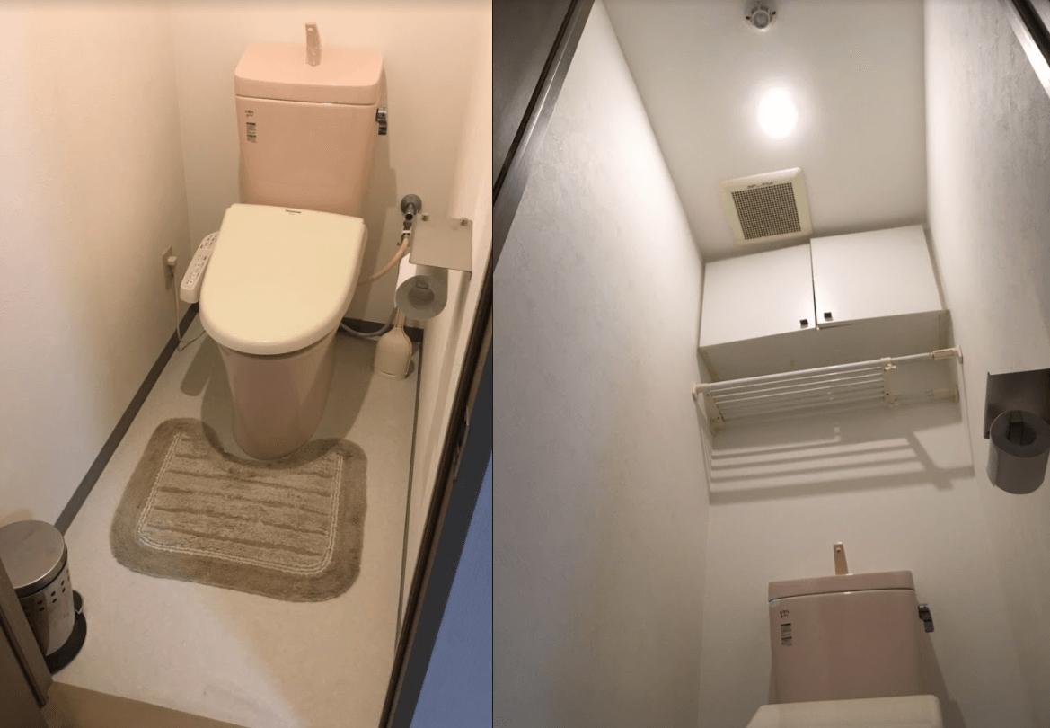 トイレ交換とクロス・CF張替で気分はまさに新築気分