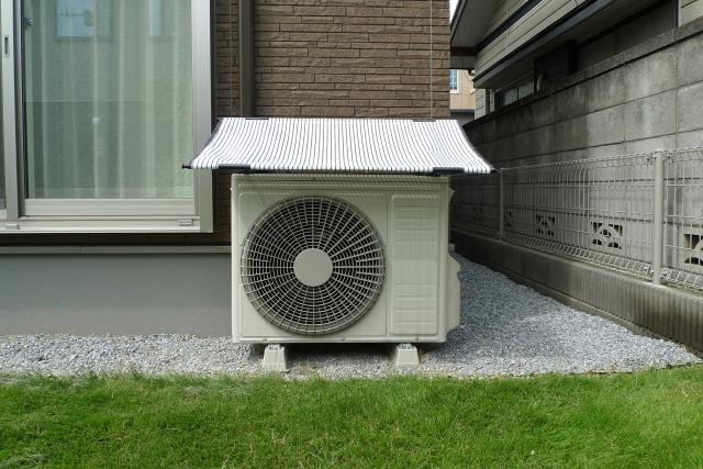 エアコン室外機の日よけは重要?!