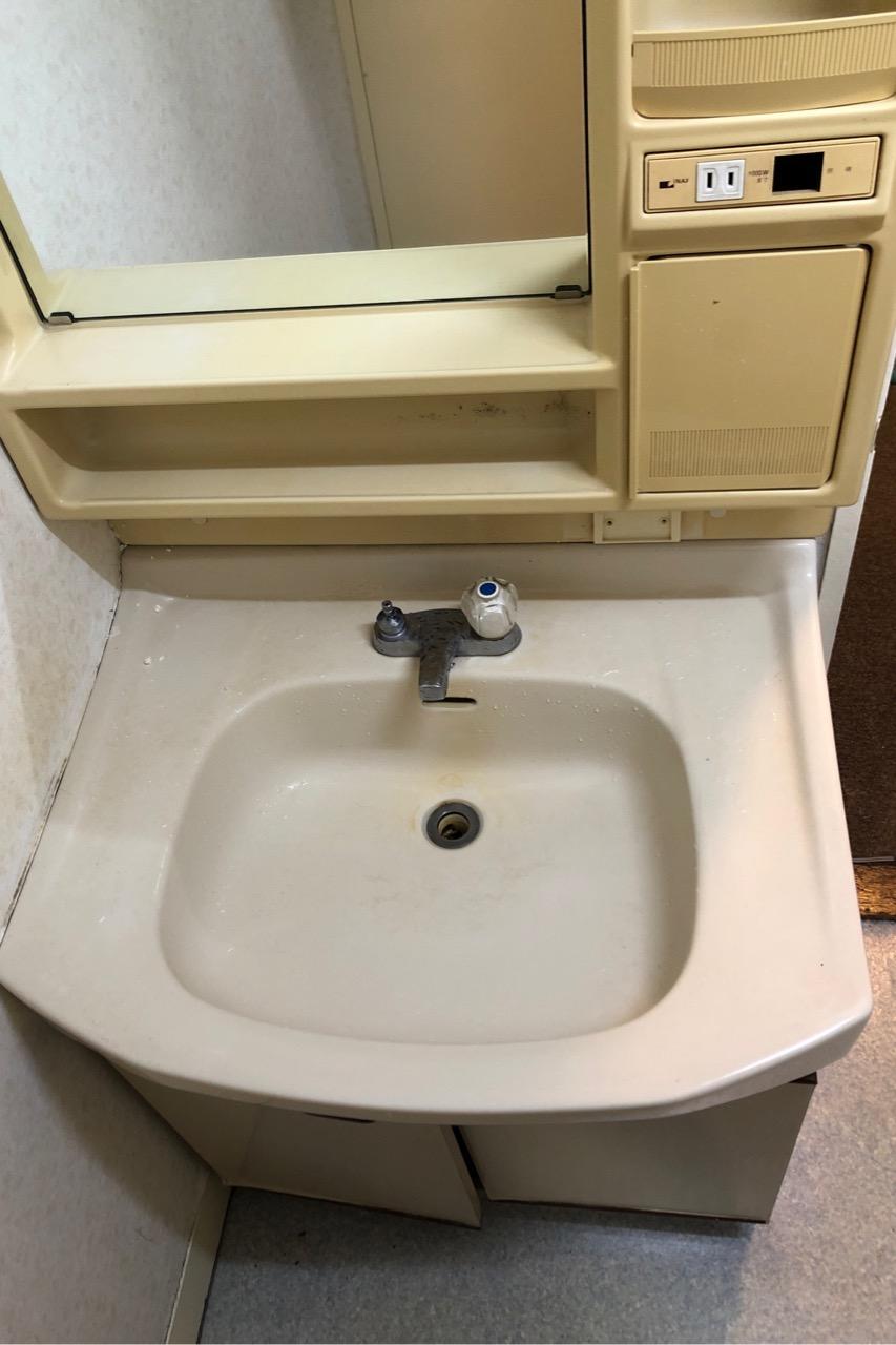 【洗面化粧台交換】LIXIL(リクシル) オフトシリーズ 2枚扉 シングルレバー混合水栓スタンダード