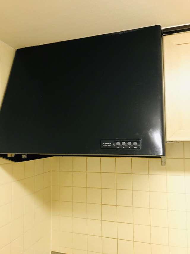 キッチン(台所)レンジフード(換気扇)交換(お掃除しやすい商品に変更)