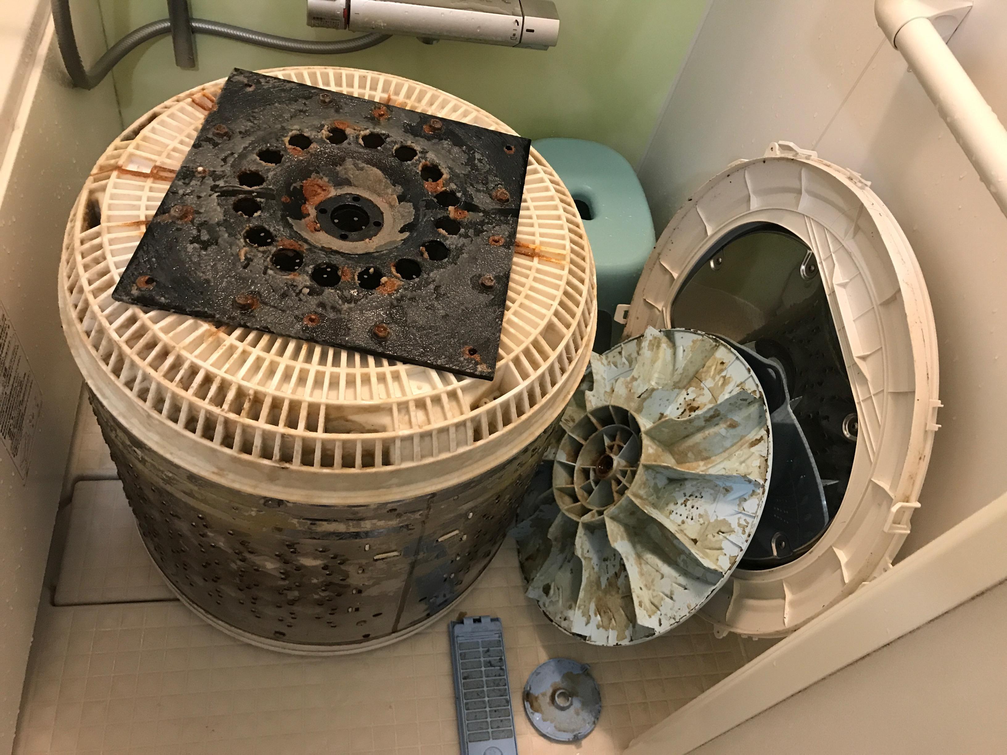 年末大人気メンテナンス!洗濯機分解クリーニング